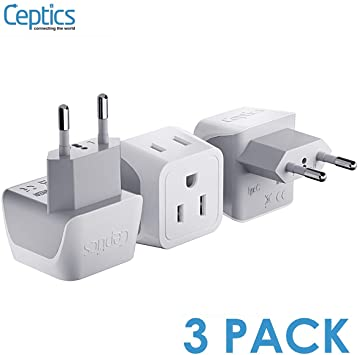 European Travel Plug Adapter by Ceptics
